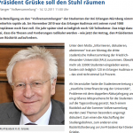 Der alte Präsident Karl-Dieter Grüske nimmt bald seinen Hut