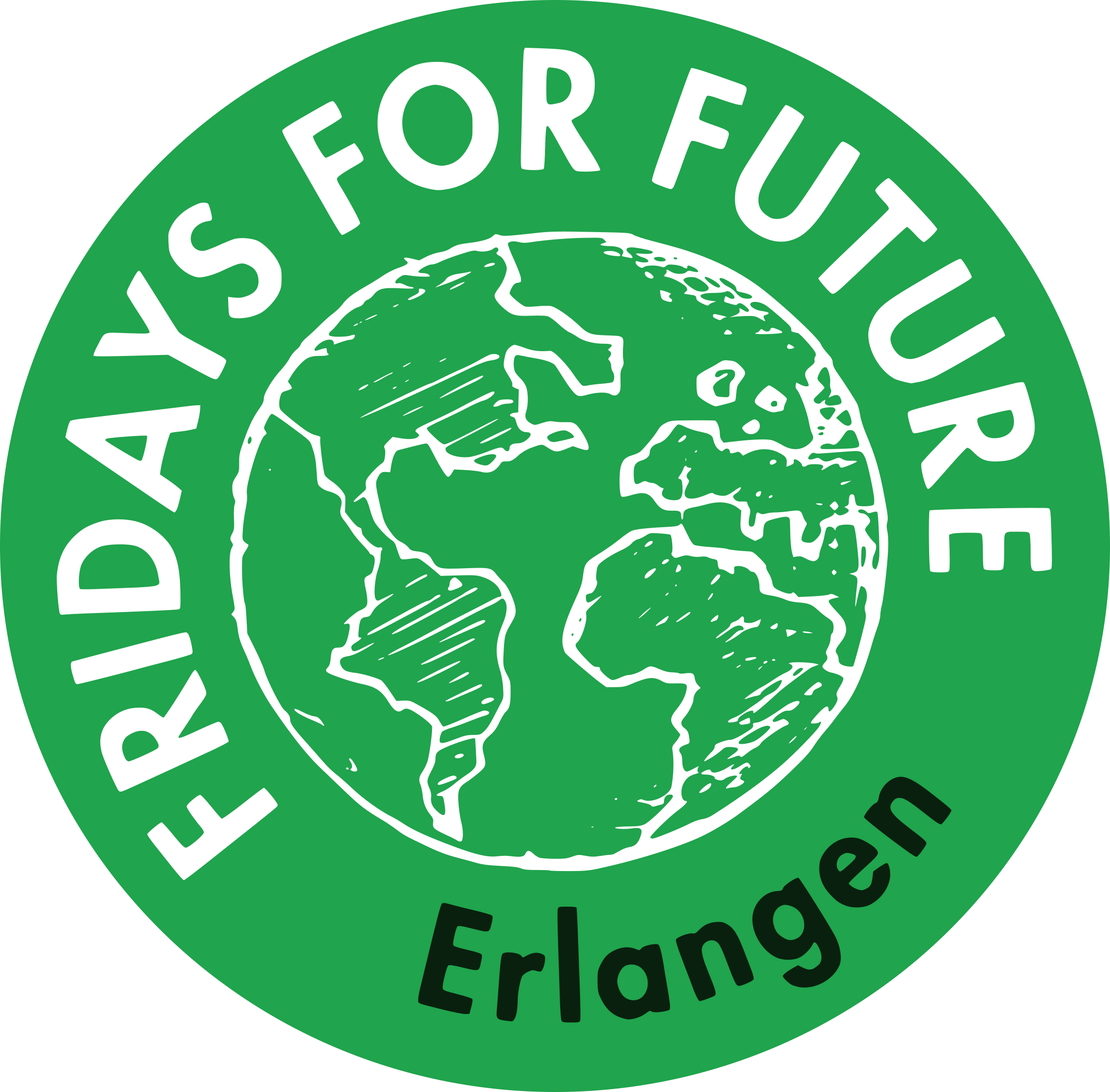 Fridays For Future Erlangen Logo