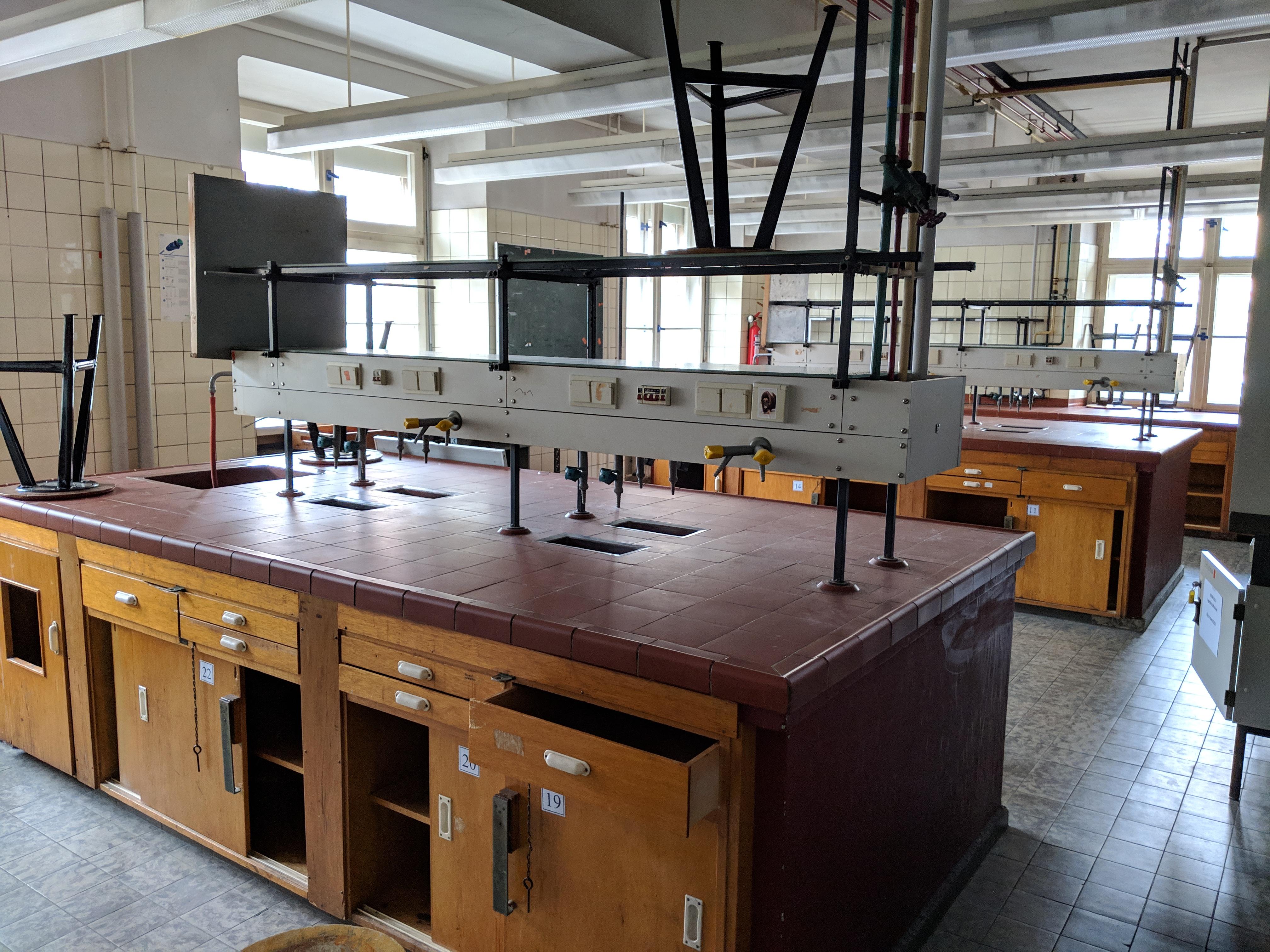 60er Jahre Chemielabore