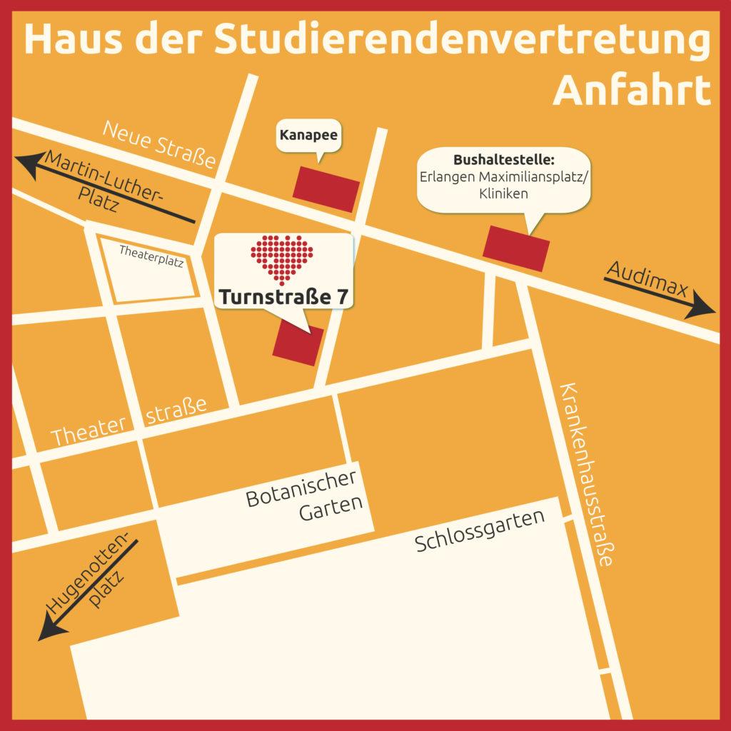 Anfahrtsbeschreibung Turnstraße 7