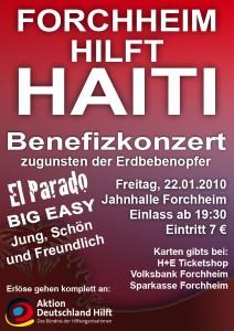 Forchheim hilft Haiti - Plakat