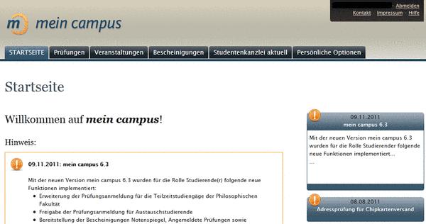 Campus Startseite